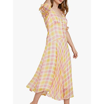 Ghost Megan Check Dress, Multi