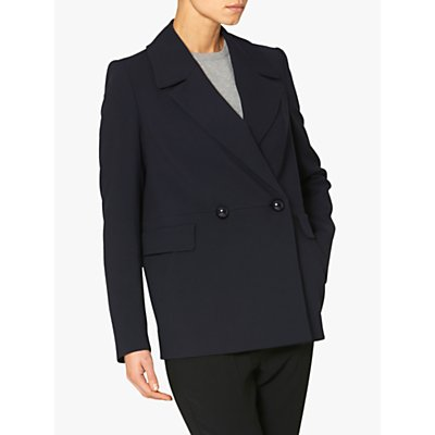 Helen McAlinden Double Breasted Pea Coat, Navy