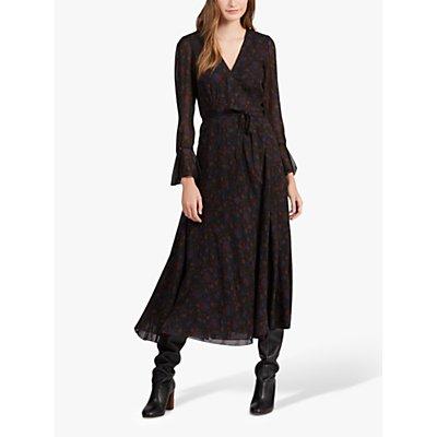 Polo Ralph Lauren Floral Midi Dress, Black