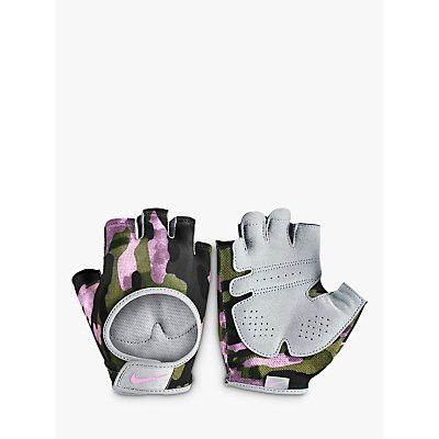 Nike Women s Ultimate Fitness Gloves  Club Gold Wolf Grey - 0887791347268