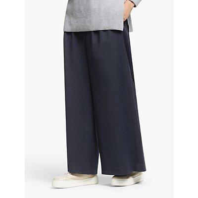 Kin Wide Leg Crop Trousers, Navy