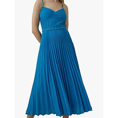 Karen Millen Chain Detail Pleated Maxi Dress