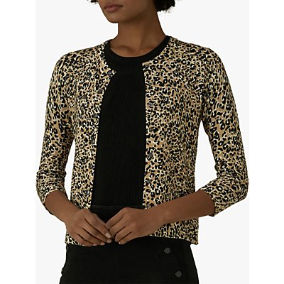 Karen Millen Leopard Print Cardigan, Multi