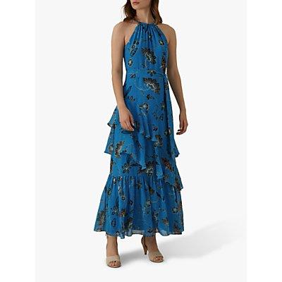 Karen Millen Floral Maxi Dress, Blue