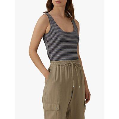 Karen Millen Striped Vest Top, Multi