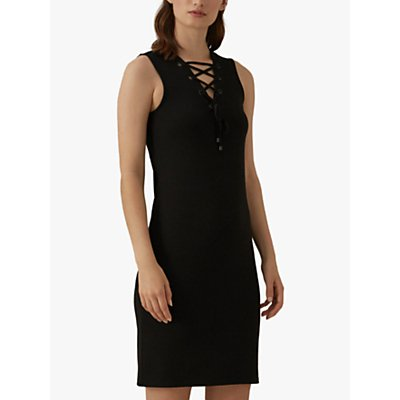 Karen Millen Lace Up Dress, Black