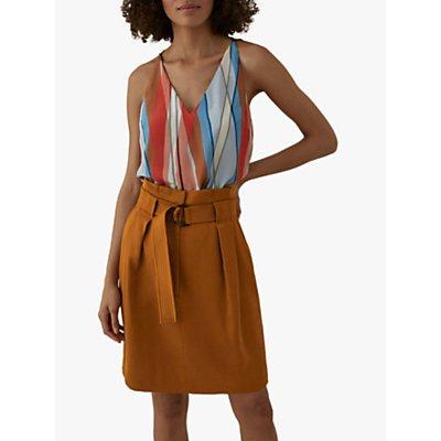 Karen Millen Striped Sleeveless Silk Top, Multi