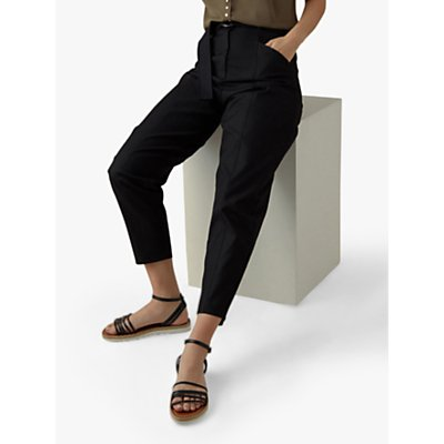 Karen Millen D-Ring Trousers, Black