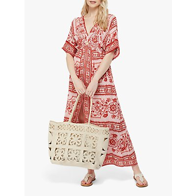 Monsoon Florence Maxi Dress, Red