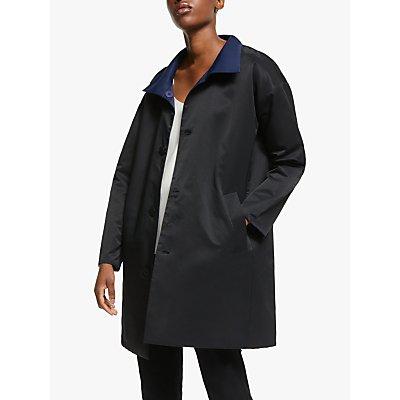EILEEN FISHER Stand Collar Coat, Midnight/Black