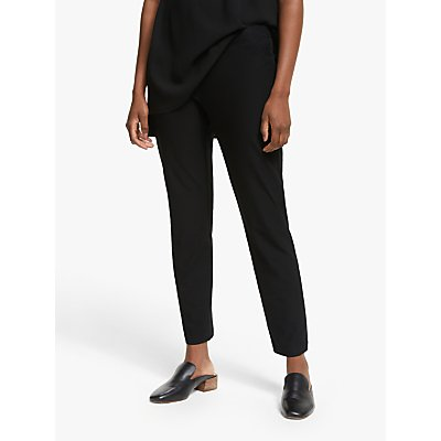 EILEEN FISHER Slim Fit Ankle Trousers, Black