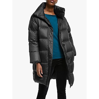 EILEEN FISHER Funnel Neck Coat, Black