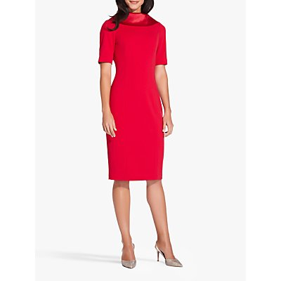Adrianna Papell Roll Neck Dress, Spiced Apple Red