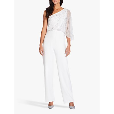 Adrianna Papell Beaded Jumpsuit, Ivory