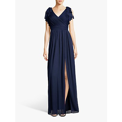 Adrianna Papell Bow Detail Grecian Dress, Midnight