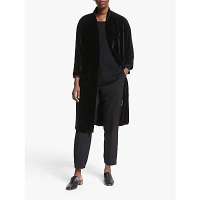 EILEEN FISHER Long Velvet Kimono Jacket, Black