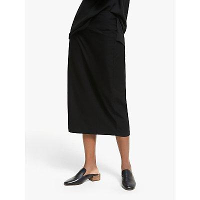 EILEEN FISHER Textured Midi Slim Skirt, Black