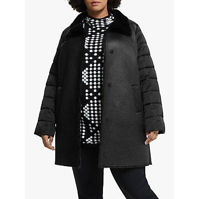 Persona by Marina Rinaldi Faux Fur Coat, Black