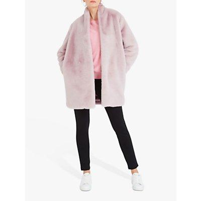 NRBY Davina Faux Fur Coat, Blush Pink