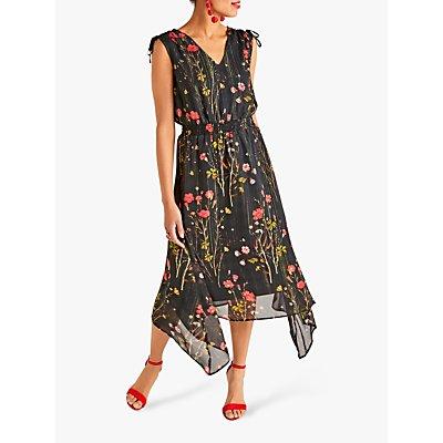 Yumi Poppy Print Dress, Black