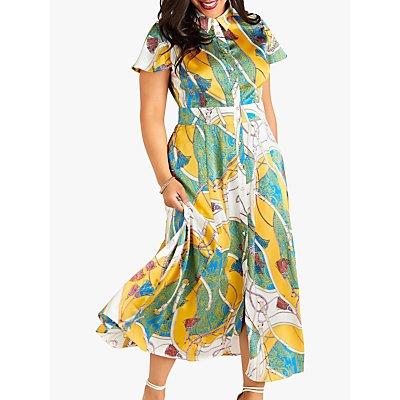 Yumi Curves Tassel Print Maxi Dress, Multi