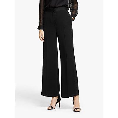 Modern Rarity Satin Wide Leg Trousers, Black