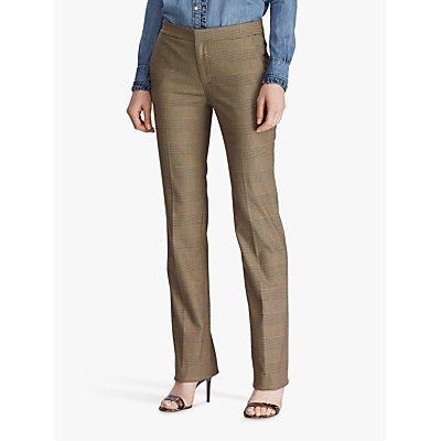 Lauren Ralph Lauren Quartilla Straight Leg Trousers, Brown/Tan