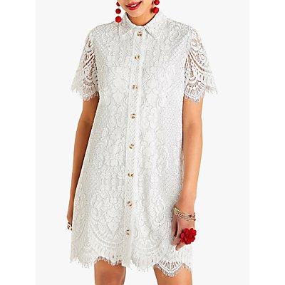 Yumi Delicate Lace Dress, White