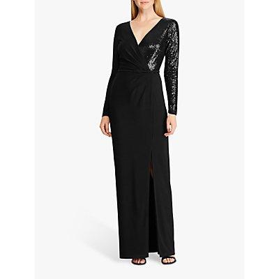 Lauren Ralph Lauren Bellamy Sequin Evening Dress, Black