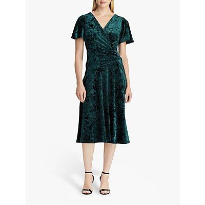 Lauren Ralph Lauren Marlin Velvet Dress, Dark Fern
