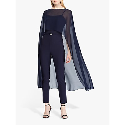 Lauren Ralph Lauren Atarah Cape Jumpsuit, Lighthouse Navy