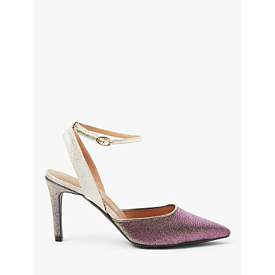 AND/OR Bonita Glitter Court Shoes, Pink