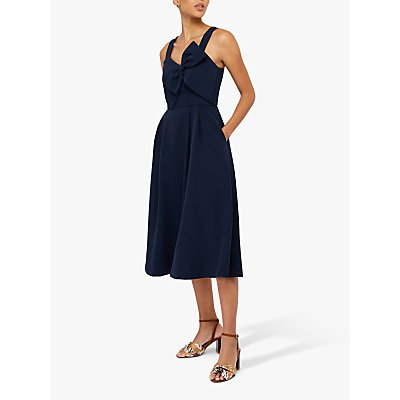 Monsoon Alexa Bow Fit & Flare Dress