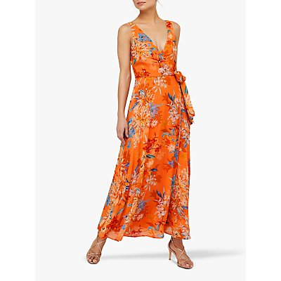 Monsoon Grace Embellished Maxi Dress, Orange