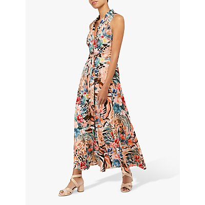 Monsoon Chica Print Maxi Dress, Camel
