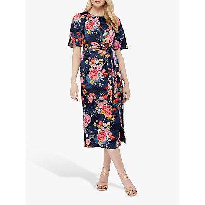Monsoon Trudy Print Midi Dress, Navy/Multi
