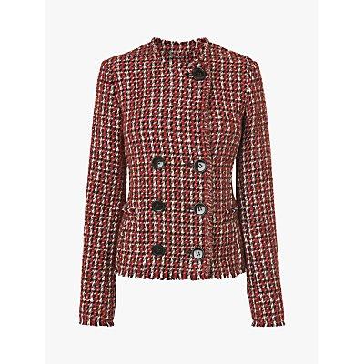 L.K.Bennett Edith Tweed Jacket, Pink Multi