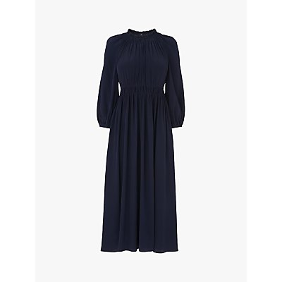 L.K.Bennett Odellie Silk Midi Dress, Midnight