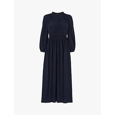 L.K.Bennett Odellie Silk Midi Dress, Midnight