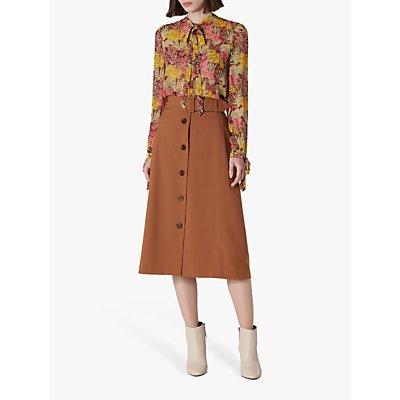 L.K.Bennett Oda Cotton Skirt, Tobacco