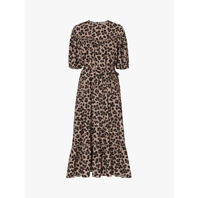 L.K.Bennett Rego Leopard Print Midi Dress, Multi