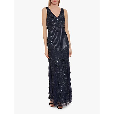 Gina Bacconi Jamila Beaded Maxi Dress