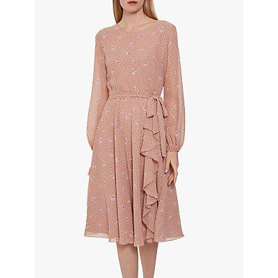 Gina Bacconi Kindra Chiffon Dress, Dusty Pink