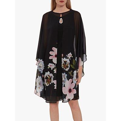 Gina Bacconi Malena Dress and Jacket, Black/Multi