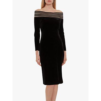 Gina Bacconi Adaira Off The Shoulder Velvet Dress, Black