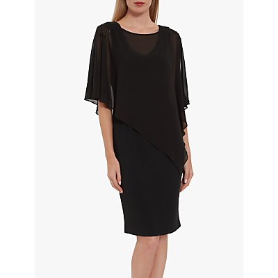 Gina Bacconi Beaded Chiffon Cape