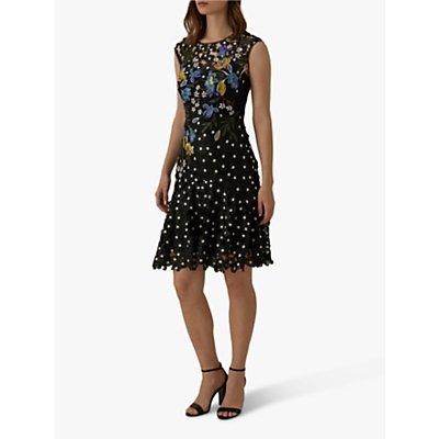 Karen Millen Floral Lace Dress, Black
