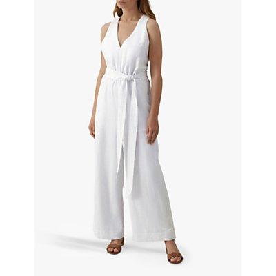 Karen Millen Cross Back Jumpsuit, White