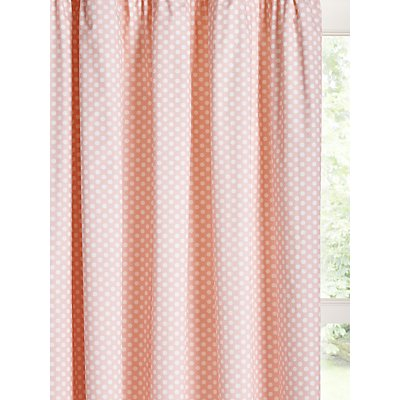 little home at John Lewis Polka Dot Print Pencil Pleat Children s Curtains  Pink - 5059139078324