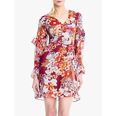 Adrianna Papell Shadow Shoulder Dress, Multi